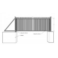 Stumdomi vartai (strypelių užpildu 20x20)